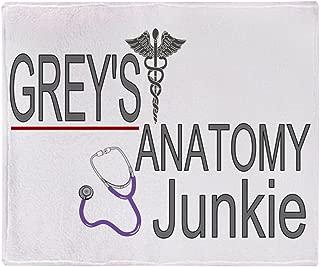 CafePress-Greys Anatomy Junkie-Soft Fleece Throw Blanket