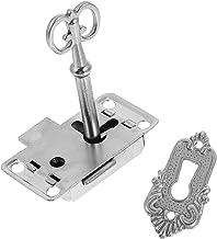 Angoily 2 Sets Antieke Kast Lock Meubels Lock Klokken Vintage Decoratieve Lock Set Non- Insteekkast Lock voor Kastdeur