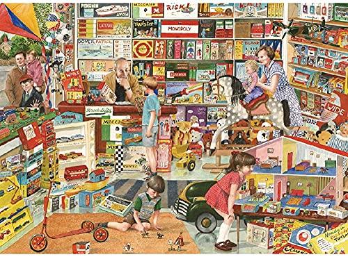 FDHGF Puzzle Adulto 1000 Piezas,Regalo de Juguete Juego Educativo para niños,Tienda de comestibles Tienda de Juguetes,Varios Patrones Soporte de personalización de imágenes.