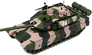 Simulation Pull Back Car Toy 1/50 Alloy Main Battle Tank 99A Military Panzer Soldiers Vehicles Rotation Tank Cannon Crawle...