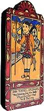 product image for Modern Artisans San Rafael (Archangel Saint Raphael) Handmade Retablo Plaque, 3.3 x 7.75 Inches