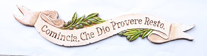 product image for Italian Wall Decor Plaque Begin and God Will Provide The Rest