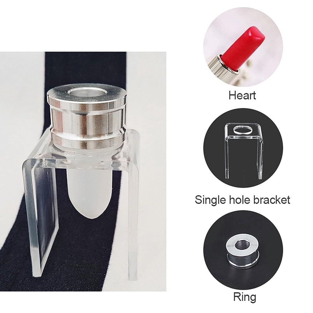 追放エンドテーブルグローバルCikuso 3セット DIY 12.1mm シンプルな口紅充填チューブ ハート型 シリコーンモールド アルミリング シングルホールブラケット 自家製口紅ツール シンプルセット