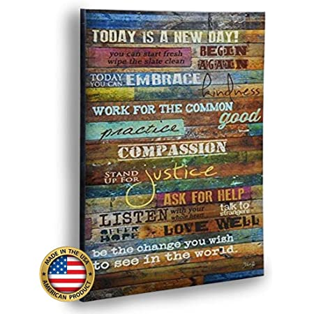 Marla Rae Inspirational Quotes Wall Art Today Is A New Day 12 X 18 Earth Tones Posters Prints