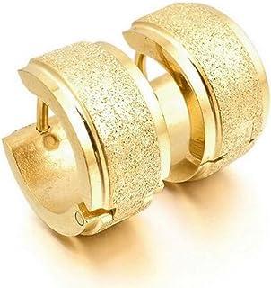 Bonnie Matte 18K Gold 316L Stainless Steel Hoop Huggie Earrings
