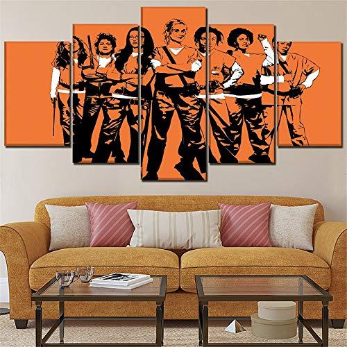 Mddrr Mural Modern Home Decor One Set 5 Piezas Tv Show Orange Is...
