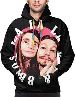 DawnMNartine Y2K & Bbno$ Men's 3D Printed Graphic Hoodie Sweater Long Sleeve Tops Hooded Sweatshirts