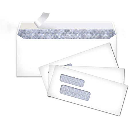 """24LB Paper Cardstock Check O Matic #10 Color Envelopes Assorted Pack of Colorful 4 1//8/""""x9 1//2/"""" Business Envelopes in Green,Lemon,Fuchsia Pink,Cherry Red /& Tangerine 50pcs Double Envelope Window"""