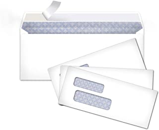 AmazonBasics #9 Envelopes with Peel & Seal, Double Window, Security Tinted, 500-Pack