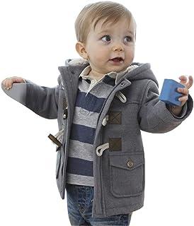 M&A Baby Boy's Toddler Fall Winter Coat Fleece Jacket Hooded Outerwear for Little Kids