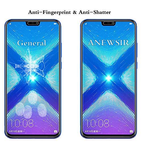 ANEWSIR Schutzfolie für Huawei Honor 8X Displayschutzfolie [2 Stück] , HD Displayschutzfolie, 9H Härte Schutzfolie, [Anti-Kratzer/Bläschen/Fingerabdruck/Staub] Displayschutz Folie für Honor 8X - 3