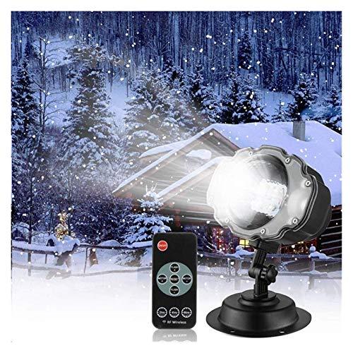 YCRCTC Proyector LED de nevada Luz de nieve de Navidad Proyector de nieve que cae Lámpara Proyector de efecto de nieve dinámico para jardín