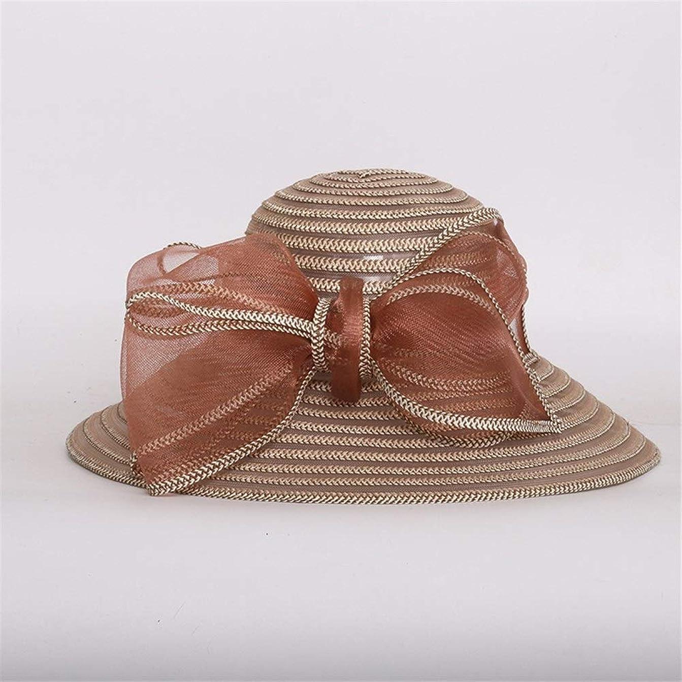 病なクリップ蝶お酒ヴィンテージファッションドーム帽子レディース快適な軽量弓バイザー麦わら帽子