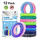 Beikell Mosquito Repellent Bracelets, [12 Pack] Anti Mosquito Insect Bracelets Bands, 100% Natural