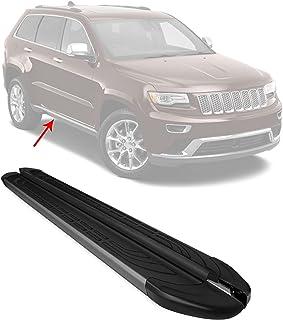 OMAC Acessórios exteriores de automóveis trilho de degrau | pranchas de corrida pretas de alumínio 2 peças | barras Nerf p...
