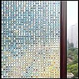 LMKJ Película de Ventana estática de Mantenimiento Fresco Mosaico privacidad translúcido Etiqueta de Vidrio Decorativa para el hogar para Puerta y Ventana película de Vidrio A50 30x200cm