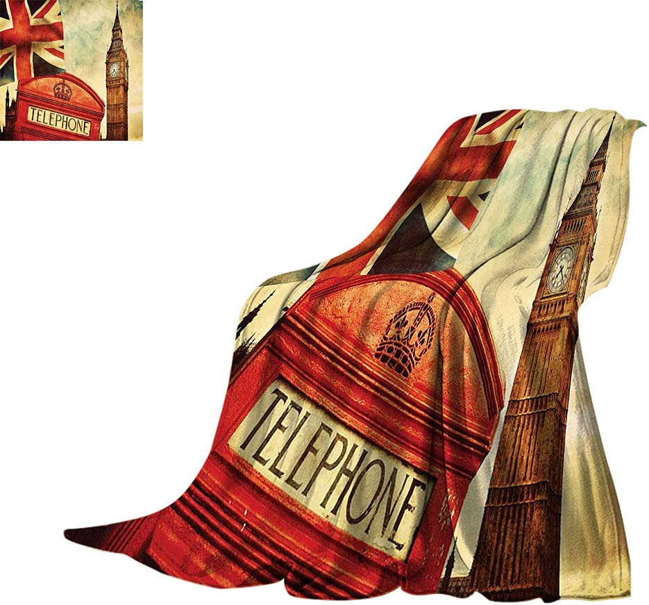 London Ranking TOP10 Decor Throw Blankets Famous Cheap bargain Telephone Big and The Booth