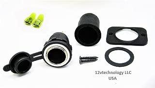 12vtechnology Waterproof Heavy Duty 25 Amp 12V Plug Lighter Accessory Socket High Power Outlet W/Boot #JD+#