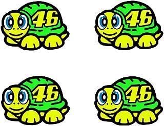 Rossi Pegatina Visera para Casco 46 diseño de Tortuga Amarilla 2019