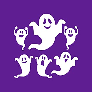 Set of 6 Vinyl Wall Art Decal - Ghosts - from 8.5