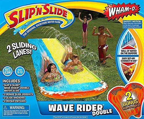 Yool 4.8 M Giant Surf 'N Doble Tobogán Inflable Diapositiva del Centro De Juegos para Niños Juegos De Piscina Patio Trasero De Verano Juguetes Al Aire Libre