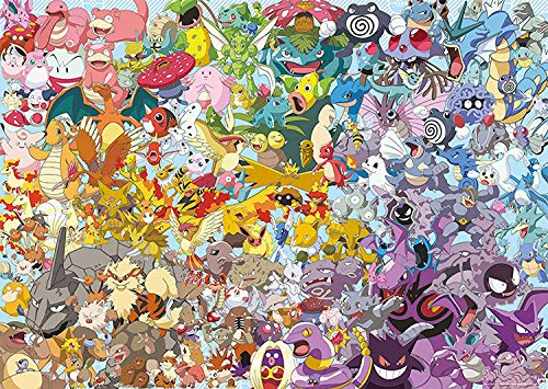 Zxx1 Wooden Puzzle 1000 Pieces Wooden Puzzle-Pokemon-Child Adult Cartoon Anime Landscape Painting Decompression Educational Toy Gift Home Decoration