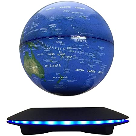 Floating Globe and Rotating Magic Creative LED Strip Decoration Crafts for Home//Office//Festival D/écor Magnetic Levitating Football