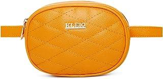 KLEIO Quilted Bum Waist Belt Pouch Sling Bag for Women Girls
