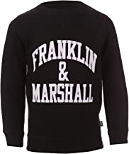 Franklin and Marshall Boy's Logo Crew Sweat 4-5 Black