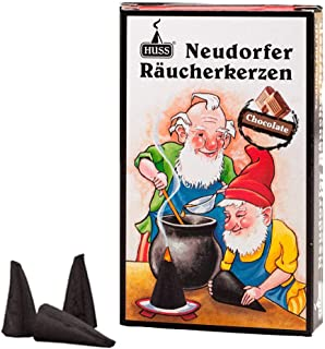 HUSS Incense Cones for German Incense Smoker - Chocolate - Eco-Friendly Handmade in Germany