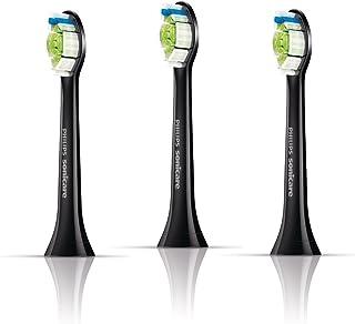 Philips 飞利浦 电动牙刷头 HX6063/35 (新型号HX6063/96更新中)钻石亮白 标准型3支装 黑色款 【适用型号HX9352 HX9372 HX9392】