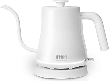 MN Meet Your Needs | Gooseneck Electric Kettle, Glowing Design, 1200W Rapid Boiling, 100% Food-Grade Stainless Steel Pour Ove