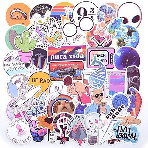 HUNSHA 20 Pcs Suitcase Sticker