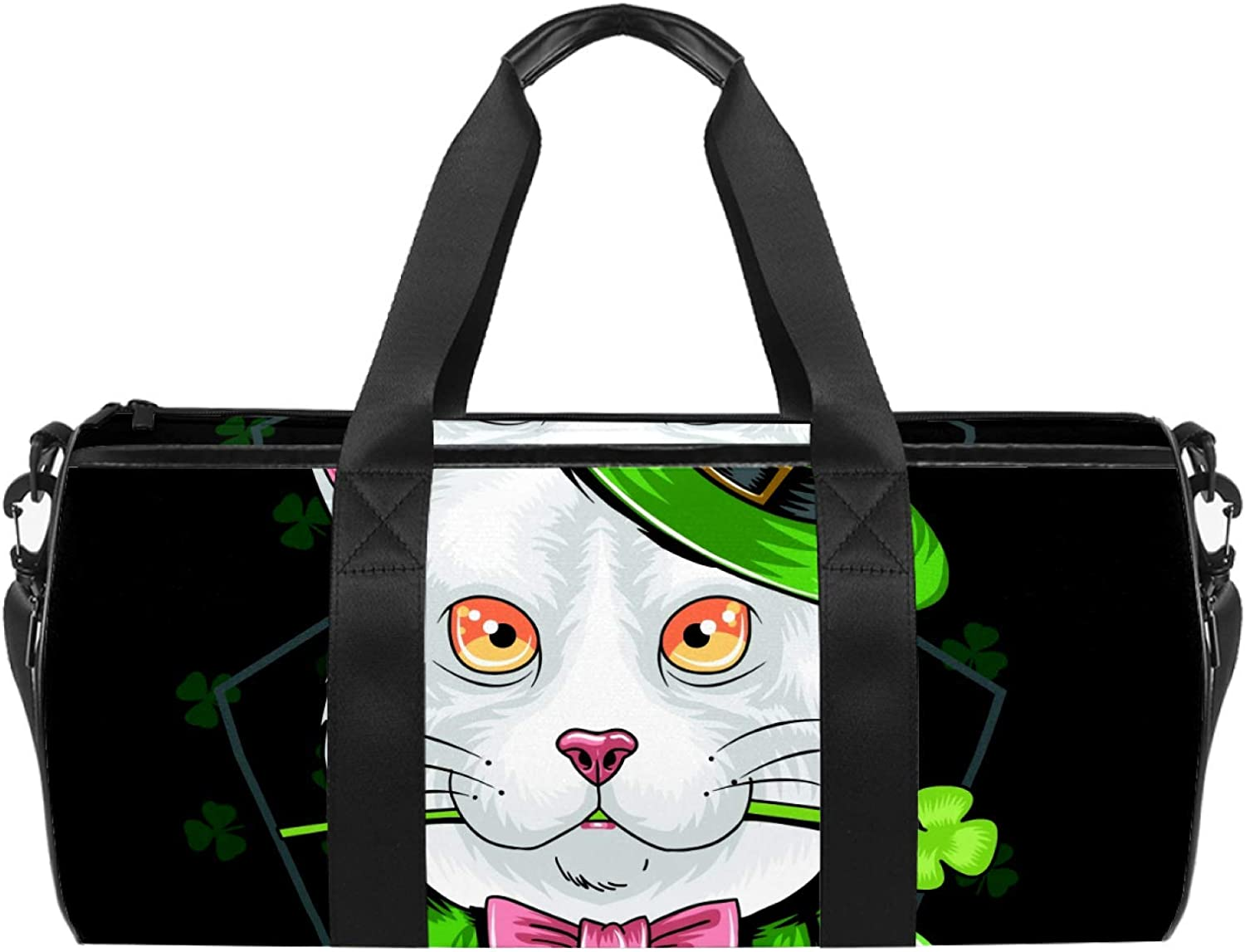 Sport Duffel Bag green Free shipping / New suit Choice cat Kids Gym Weekend Travel