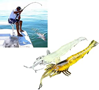 2017 Arrivals 5pcs Shrimp Soft Prawn Lure Hook Tackle Bait Saltwater Bass Fishing Lures Super Quality May29 Multi