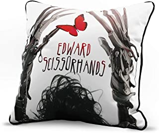 Jay Franco Edward Scissorhands Gently Decorative Pillow Cover - Super Soft Single Pack Throw Pillow Cover - Measures 15 Inches x 15 Inches (Official Fox Product)