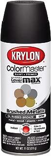 Krylon K05125407 ColorMaster Paint + Primer, Brushed Metallic, Satin, Oil Rubbed Bronze, 11 oz.