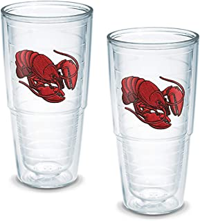 Tervis Tumbler Lobster 24-Ounce Double Wall Insulated Tumbler, Set of 2 -