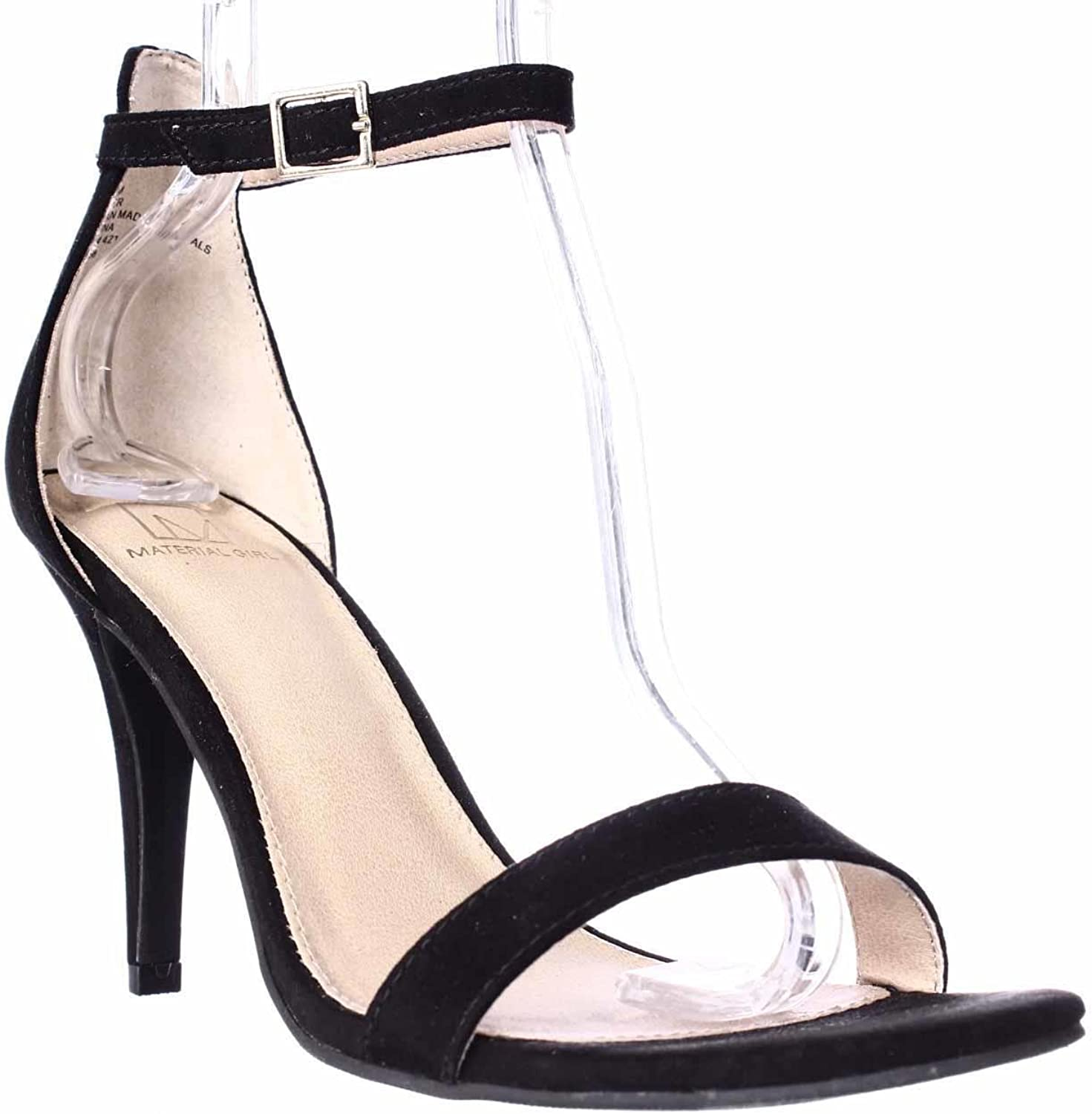 Material Girl Mg35 Blaire Ankle Strap Dress Sandals, Black