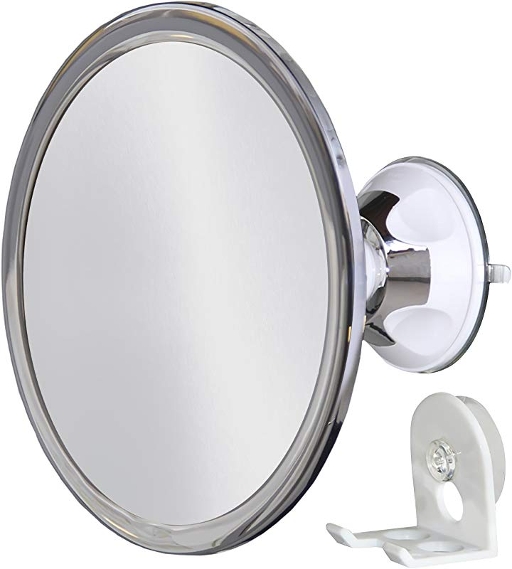 Upper West Collection No Fog Shower Mirror With Rotating Locking Suction Bonus Separate Razor Holder Adjustable Arm For Easy Positioning Best Personal Mirror For Shaving Available The