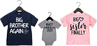 Big Brother Big Sister Newest Addition Shirts Set of 3
