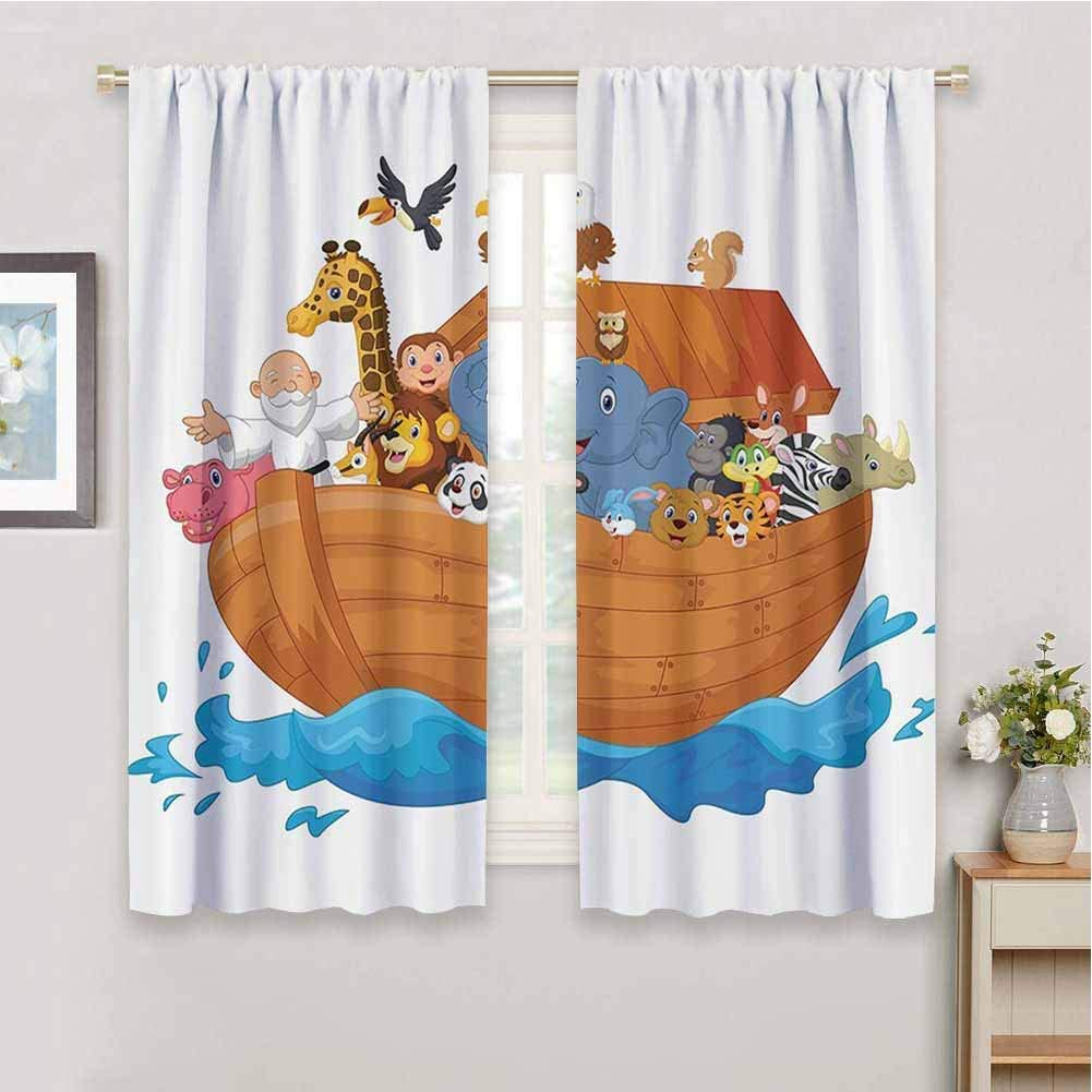 Noahs Ark Decor Collection Kids inch Soldering 39 2021new shipping free shipping Curtains Curtain Length