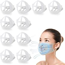 Face Mask Inner Support Frame 3D Mask Bracket Cool Silicone Bracket for More Breathing Space Reusable Washable, 10 Pack White
