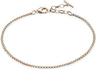 Thomas Sabo Femmes-Bracelet Glam & Soul Argent Sterling 925 plaqué or rose 18 carats Longeur de 16.5 à 19 cm A1561-415-12-...