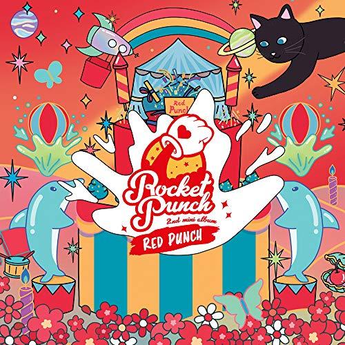 Woolim Entertainment Rocket Punch - Álbum con póster Plegado, diseño de Cohete Rojo