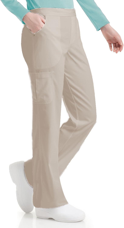 Urbane Elastic Waist Medical Very popular! Scrub L Tall Pants Max 64% OFF Sandstone