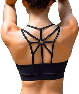 YIANNA Women's Padded Sports Bra Cross Back High Impact Workout Running Yoga Bra