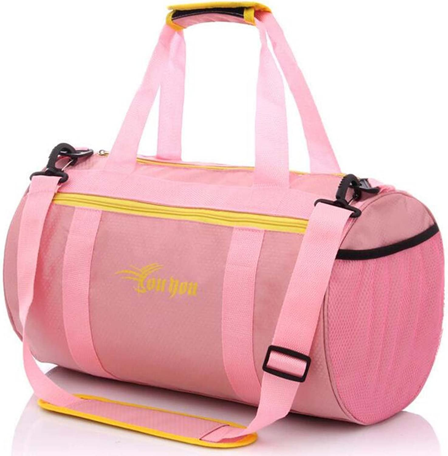 Calunce Waterproof Sports Bag Dry and Wet Separation Handbag Organizer for Swimming,Fitness,Gym,Camping,Drifting,Fishing and more,Many colors available,cylindraceous,pink