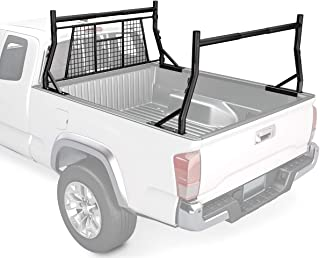 AA-Racks Model X35-W 800 LB Capactiy Extendable Pick-up Truck Rack with Protective Screen Set (Black)