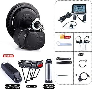 TongSheng TSDZ2 36V 250W 350W 48V 500W Torque Sensored DIY eBike Mid Drive Crank Motor Kit Electric Bike Central Motor Conversion Kit and Optional 36V 48V Batteries